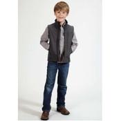 Kids' Roper Grey Softshell Fleece Vest - 0339707820721