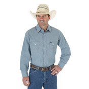 Cowboy Cut® Firm Finish Long Sleeve Western Snap Solid Work Shirt - MS70919