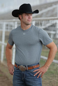 Cinch Men's Heather Grey Athletic Tech Under Shirt  - MTK1730023