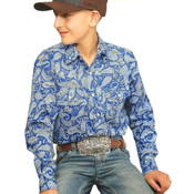 Cinch - Youth Paisley Button Down Pearl Snap - MTW7020051