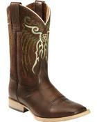 Ariat® Kid's Mesteno Rusty Rough Cinnamon Sq Toe Boots - 10019918