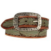 "Women's Gem Dandy 1-1/2"" Tan Western Belt - 8819790"