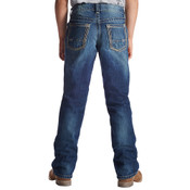 Ariat Boy's Medium Wash Relaxed Fit Boot Cut Open Pocket Jeans - 10021160