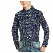 Ariat Boys' Paisley Patterned Long Sleeve Shirt  - 10020357