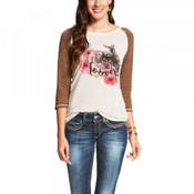 Ariat Women's Forever Tee Shirt 3/4 Sleeve - 10020425