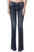 Women's Medium Wash Frayed Bottom Jeans by Miss Me - M7929B