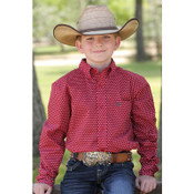 BOYS LONG SLEEVE BUTTON DOWN, BY CINCH  - MTW7060172