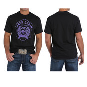 BLACK CINCH T-SHIRT WITH PURPLE LOGO - MTT1690274