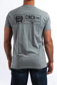 Cinch Men's Artic Grey Classic Crew Neck Tee - MTT1690307
