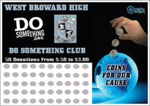 Coins for our Cause Scratch off Fundraiser Card will raise $100-$10,000.  Scratch off Card, Scratch off Fundraiser, Fundraising, School, Sports, School, Cancer, Donations, Fundraiser.