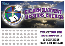 Church Scratch off Fundraiser Card will raise $100-$10,000.  Scratch off Card, Scratch off Fundraiser, Fundraising, Church, Youth Group, Missionary Fundraiser, Donations, Fundraiser.