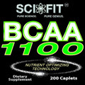 BCAA 1100 ER (1100mg/Serving - 200 Capsules)