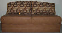 NHJ8902-68 Jackknife Storage Sofa - Dazed Chestnut / Addison Lasso