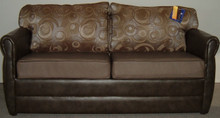 "68"" Standard Hide-a-Bed Sofa Sleeper - Derrick Smoke / Hula-Hoop Pecan"
