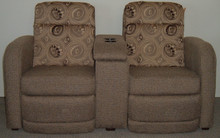 2675 Dual Reclining Console Sofa - Stormy Shelter
