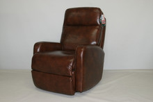 4920-99 Duke Swivel Rocker Recliner - Leather Walnut