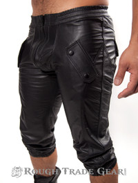 Sport Jogger Leather Pants - Rough Trade Gear