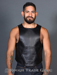 GEO Panel Leather Vest - Rough Trade Gear