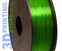 PLA Transparent Filament, 1kg, 1.75mm, Green