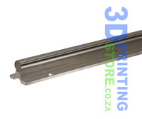 Supported chromed linear rod, SBR16 x 2000mm