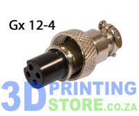 GX12 Connector, 4 Pin, Female