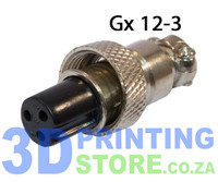 GX12 Connector, 3 Pin, Female