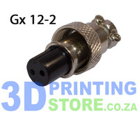 GX12 Connector, 2 Pin, Female