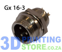 GX16 Connector, 3 Pin, Male