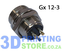 GX12 Connector, 3 Pin, Male