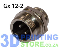 GX12 Connector, 2 Pin, Male