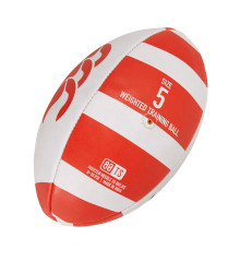 Canterbury Catalyst Weighted Training Rugby Ball - Scarlet/White