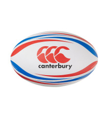Canterbury Practice Rugby Ball - White/Blue/Scarlet