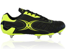 Gilbert Sidestep Revolution 8 Stud Rugby Boot - Black/Green