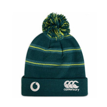 Ireland Striped Bobbled Beanie - Deep Teal