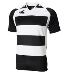 Canterbury Hooped Challenge Rugby Jersey - Black/White