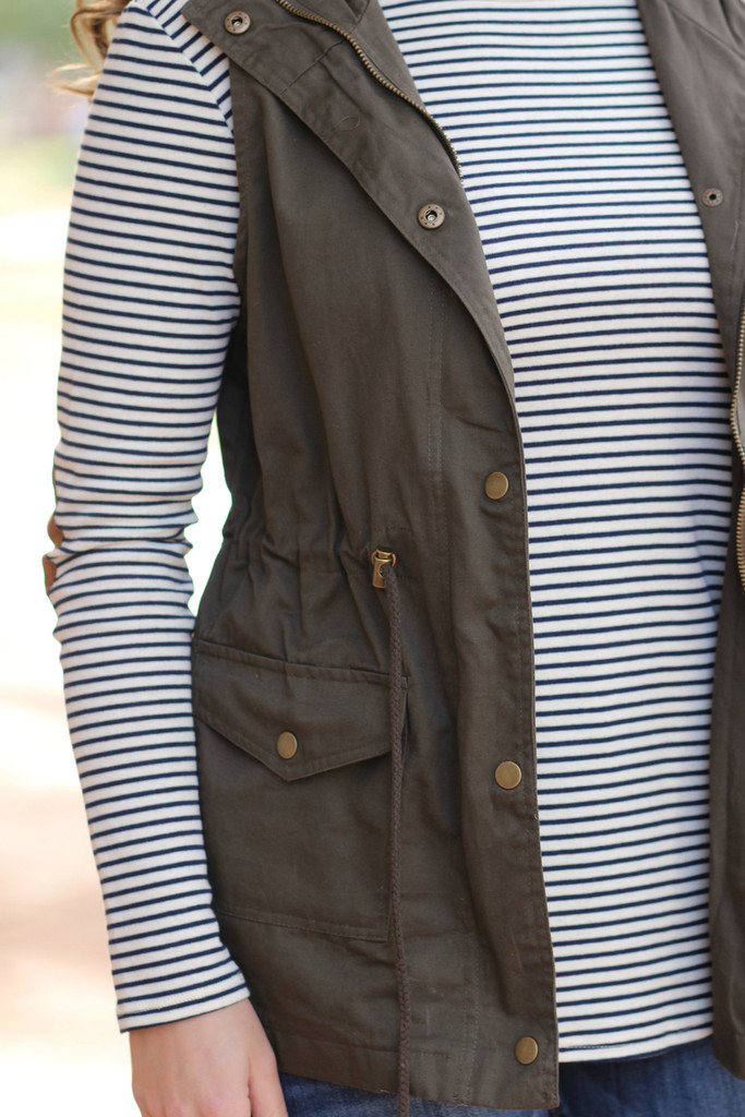 Better With You Vest: Olive