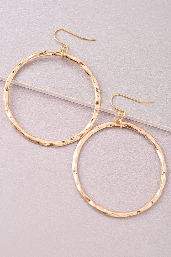 Jumping Through Hoops Earrings: Gold