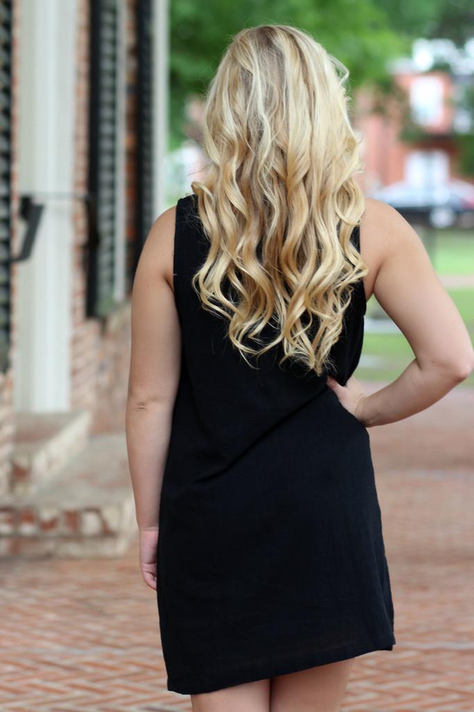 Tassel Dress: Black