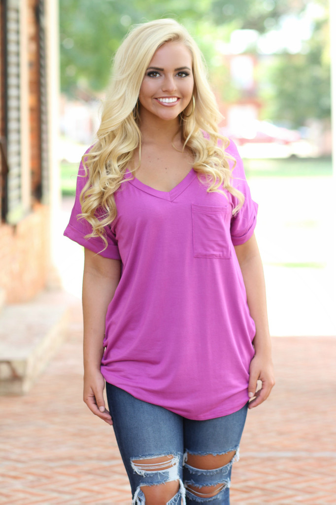 On The Go Tee: Orchid