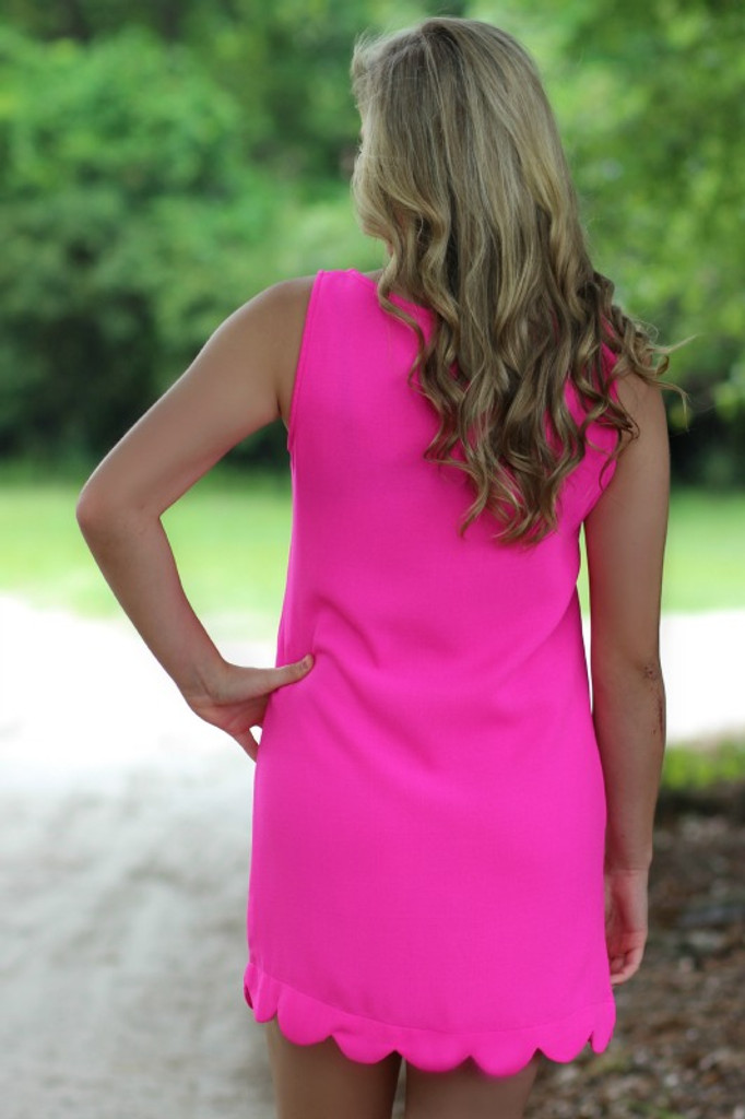 Finders Keepers Dress: Hot Pink