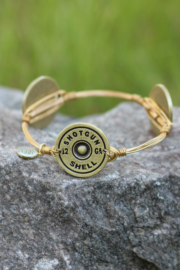 Bourbon And Boweties: Shotgun Shell Bangle (Gold)