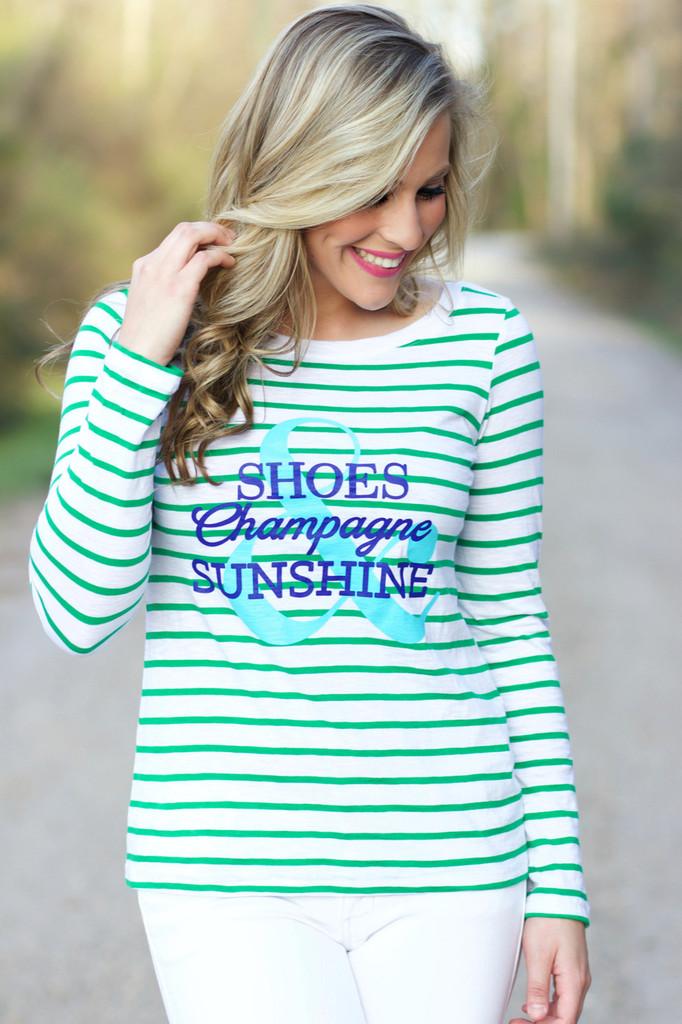 Shoes, Champagne & Sunshine: Green