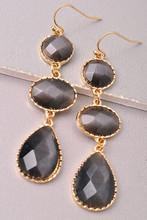 Drop Earrings: Black