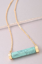 Raise The Bar Necklace: Turquoise