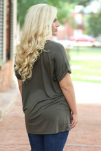 On The Go Tee: Olive