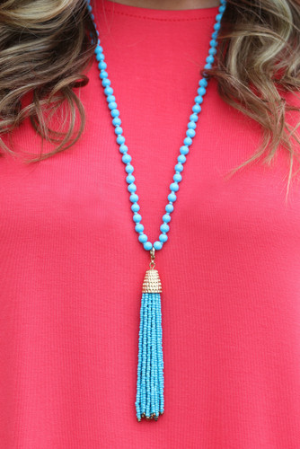 Livin' The Dream Necklace: Turquoise