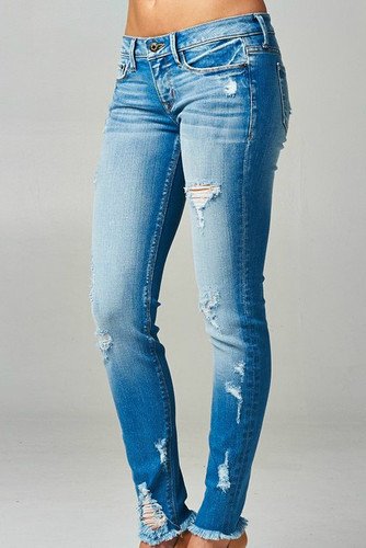 The Essential Distressed Skinny Jean: Denim