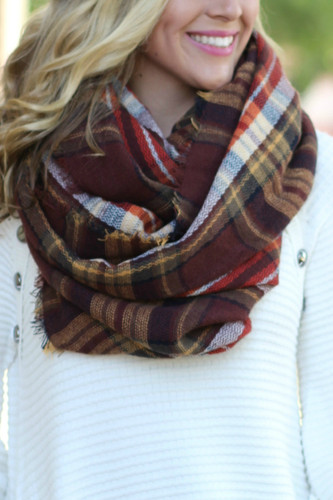 Warm Heart Scarf: Coffee