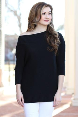 Off The Shoulder Sweater: Black