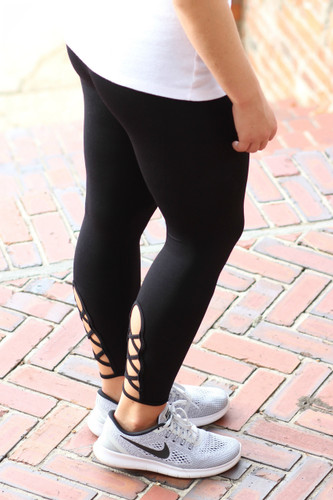 Work It Out Leggings: Black